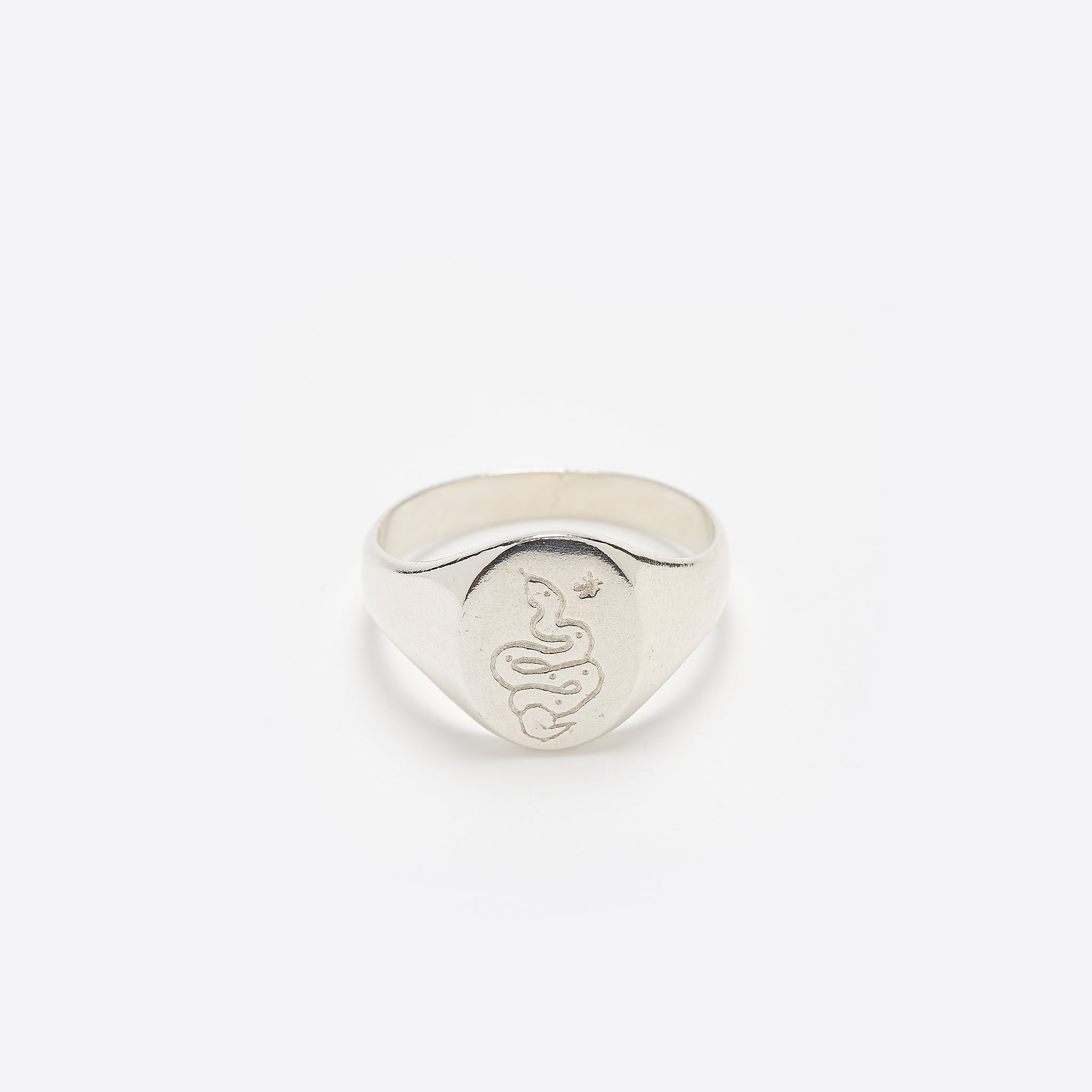 Wolf Circus Ophidian Signet Ring in Silver