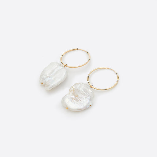 Wolf Circus Pearl Hoop Earring in Gold