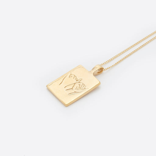 Wolf Circus Pinky Swear Necklace in Gold