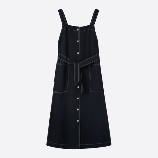 Wood Wood Charlotte Dress in Navy