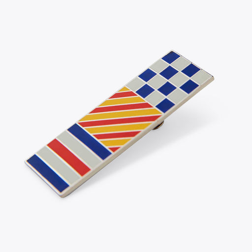 Wood Wood Enamel Pin in Colorblock
