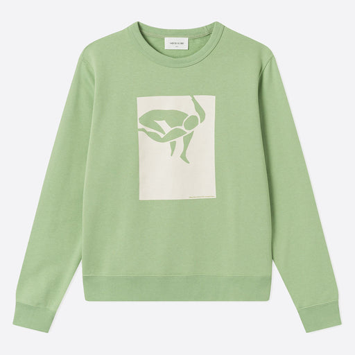 Wood Wood Rose Sweatshirt in Dusty Green