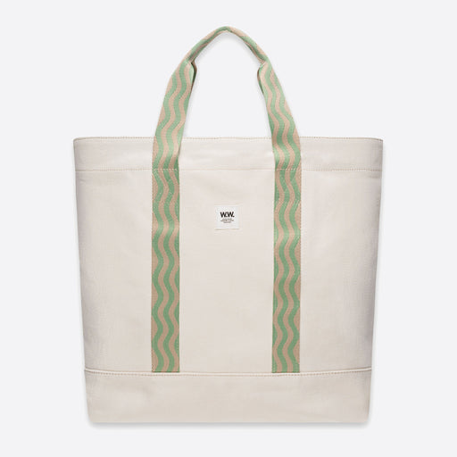 Wood Wood Kirby Shopper in Off White