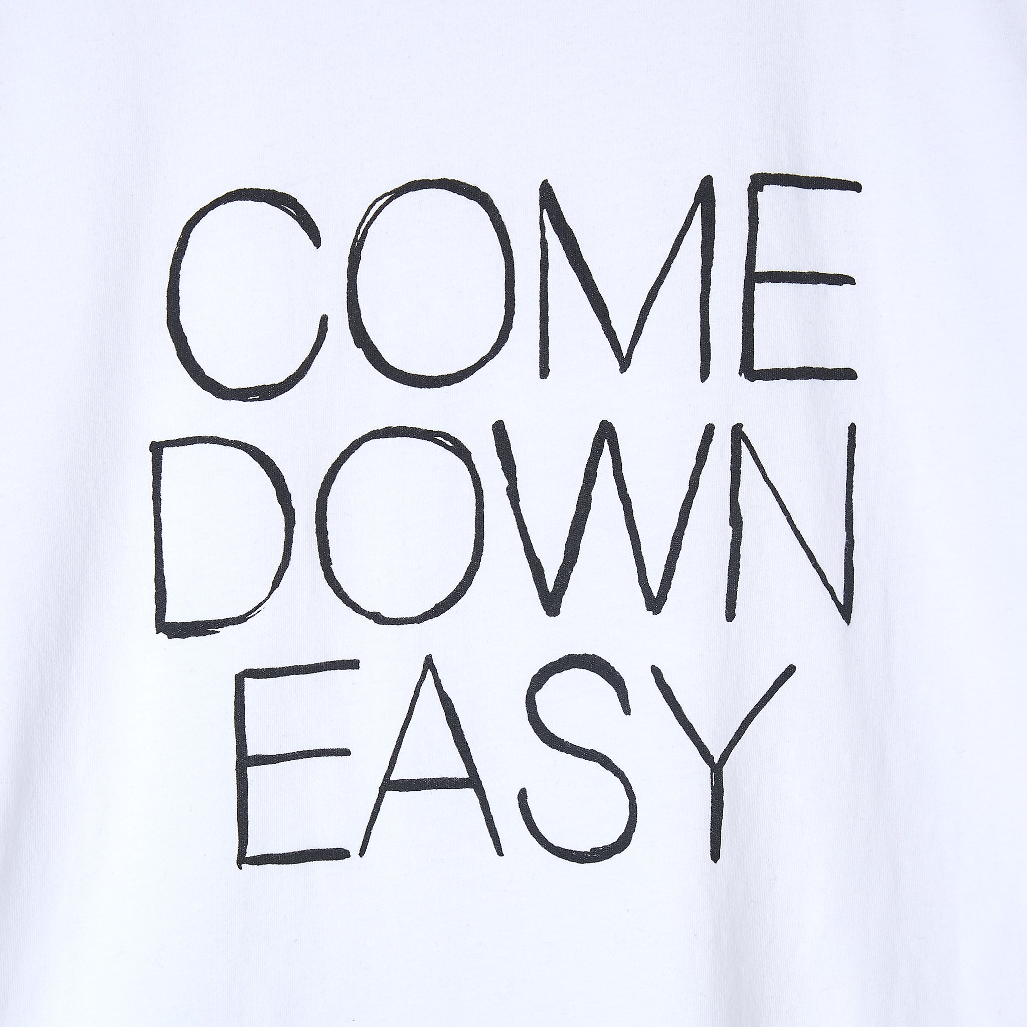 Wood Wood 'Come Down Easy' T-Shirt in Bright White