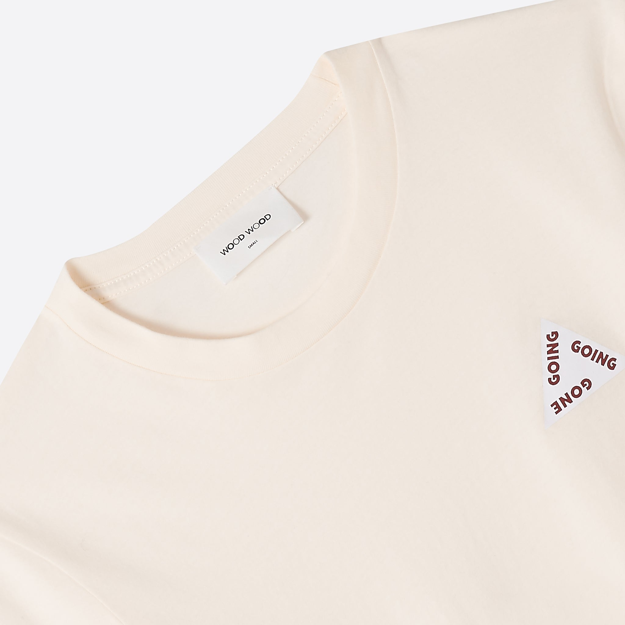 Wood Wood Eden T-shirt in Off White