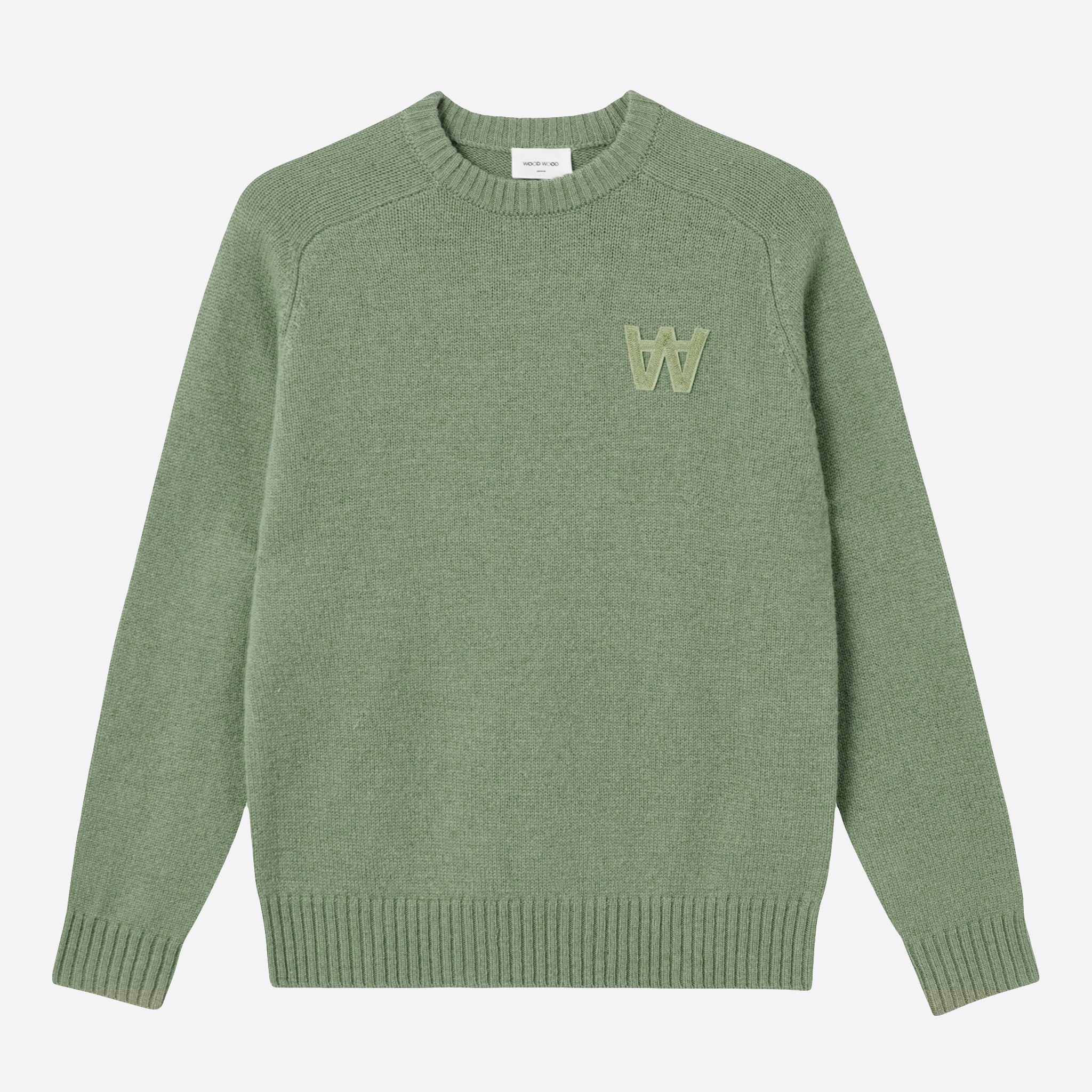 Wood Wood Kevin Sweater in Dusty Green