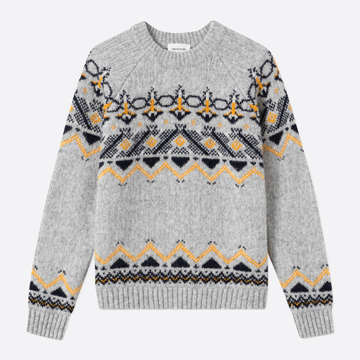 Wood Wood Asta Sweater in Grey Jacquard