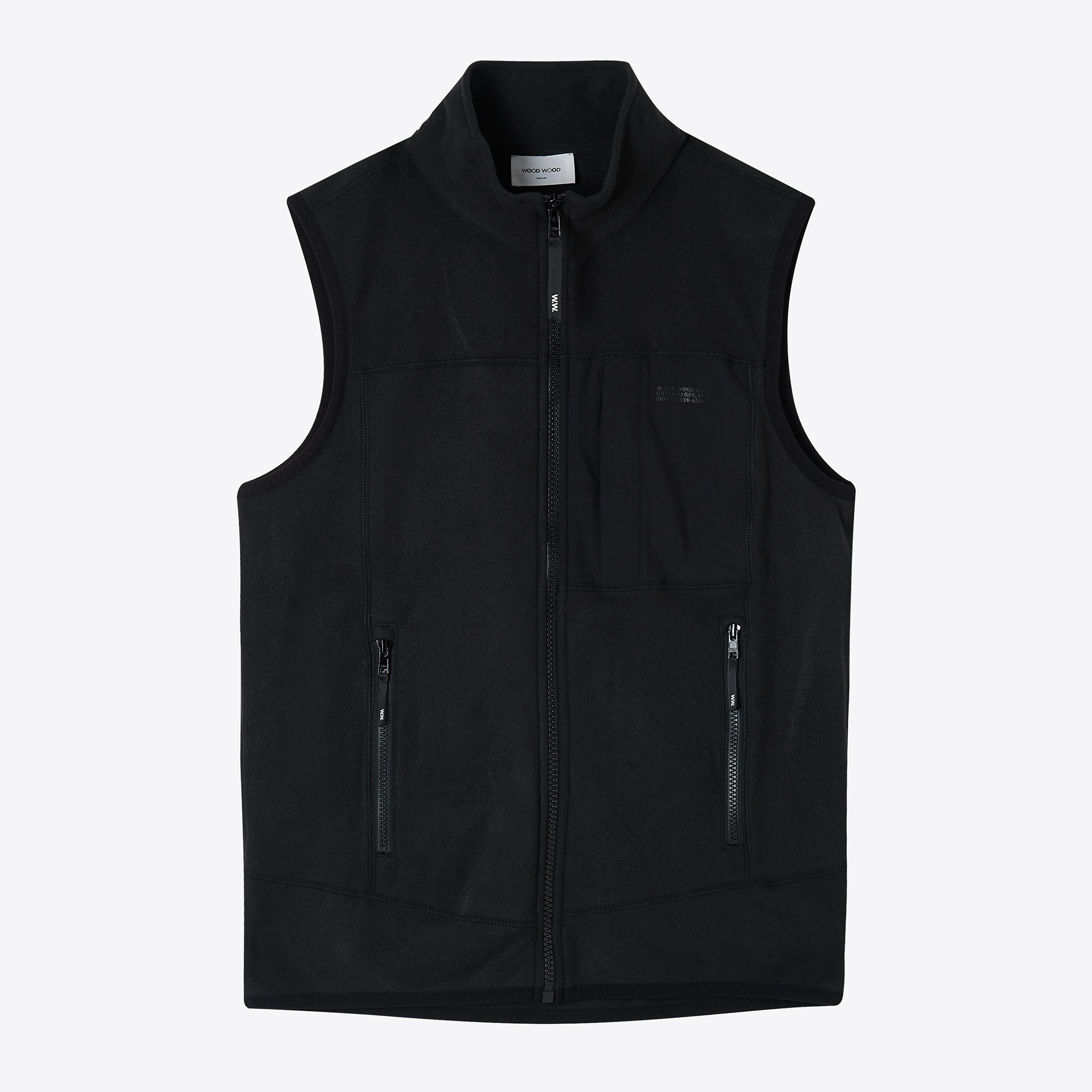 Wood Wood Olaf Vest in Black