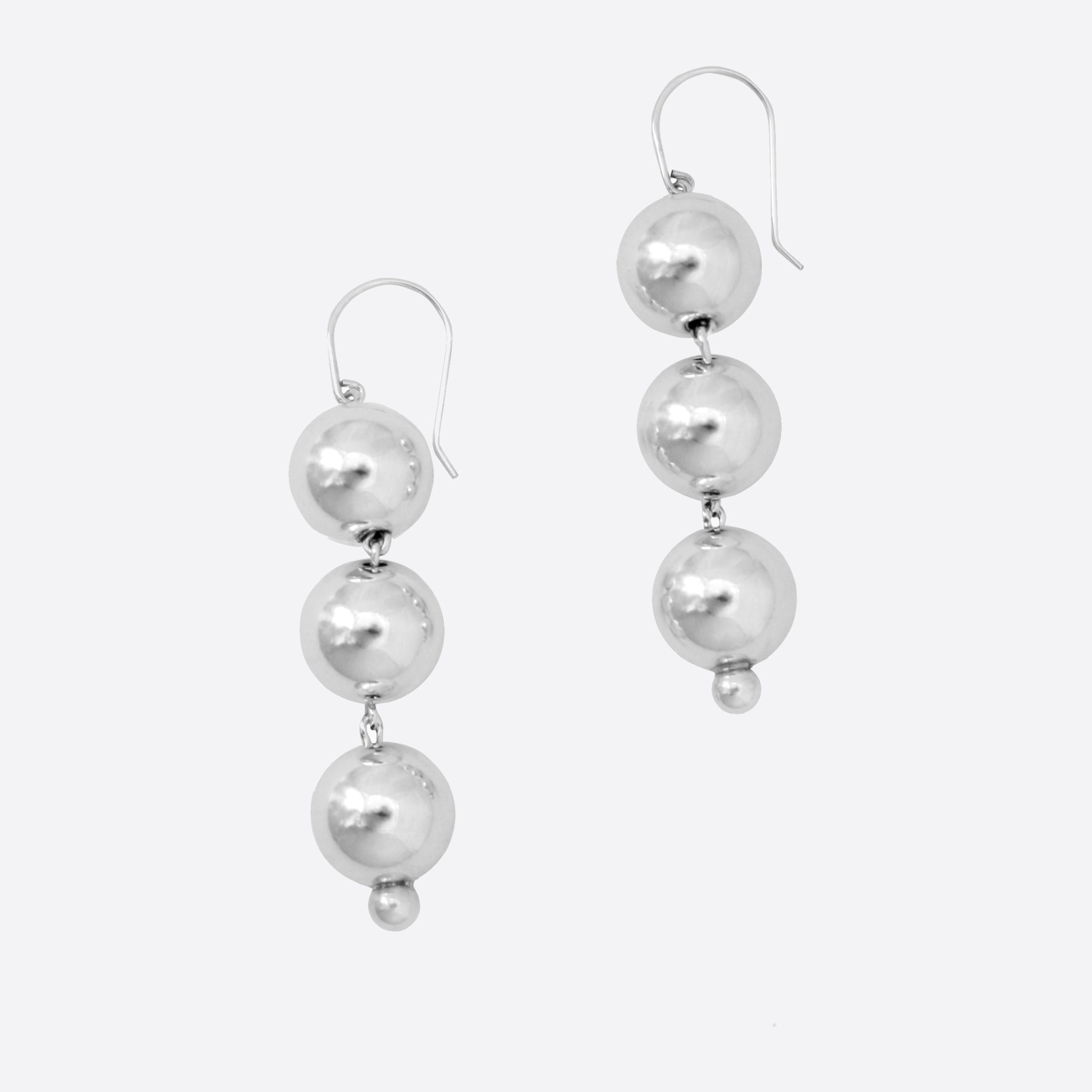Young Frankk Bauble Earrings in Silver