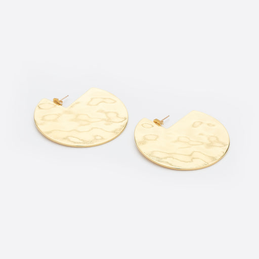 Young Frankk Hammered Circle Earrings