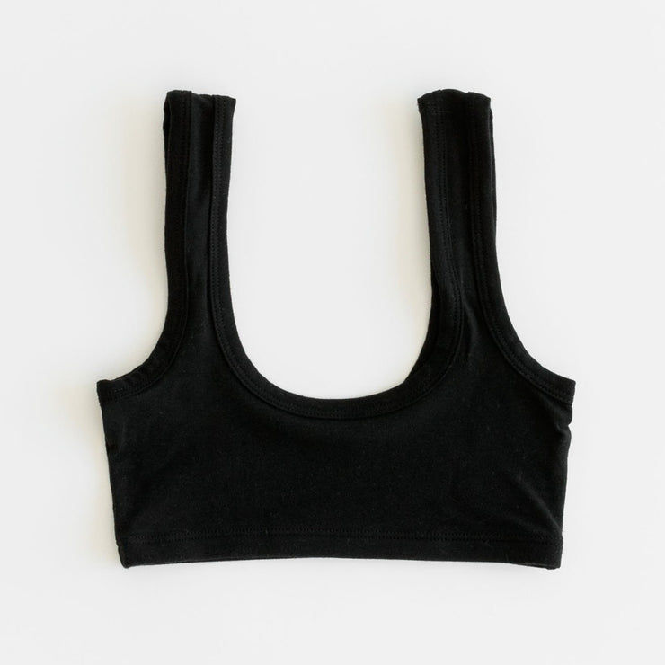 Arq Wide Strap Bra in Black