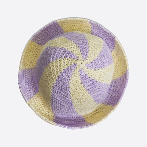 Emily Levine Lollipop Swirl Hat in Lilac/Cream