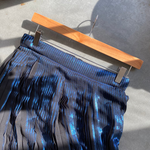Designers Remix x Charlotte Eskildsen Para Long Metal Skirt in Blue