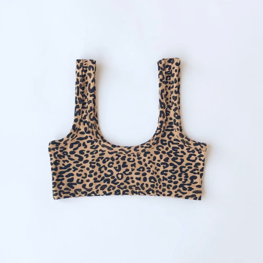 Arq Wide Strap Bra in Leopard