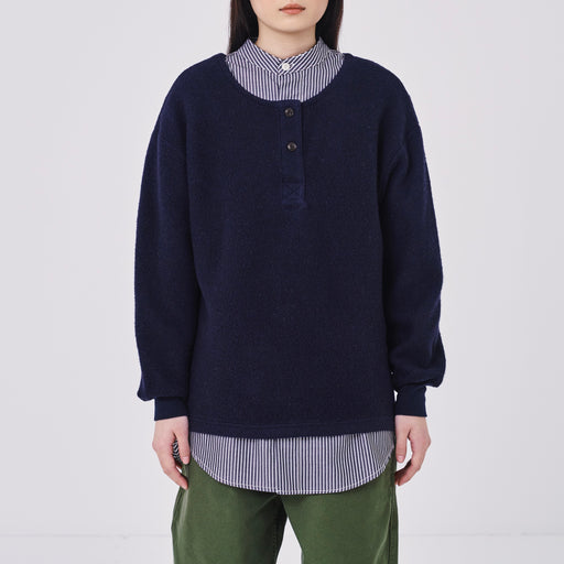 Girls of Dust Papillion Cotton Wool Fleece in Navy