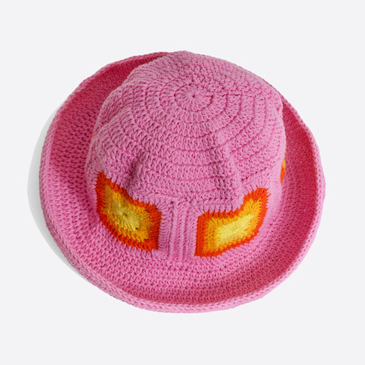 Emily Levine Yoshi Hat in Pink/Orange/Yellow