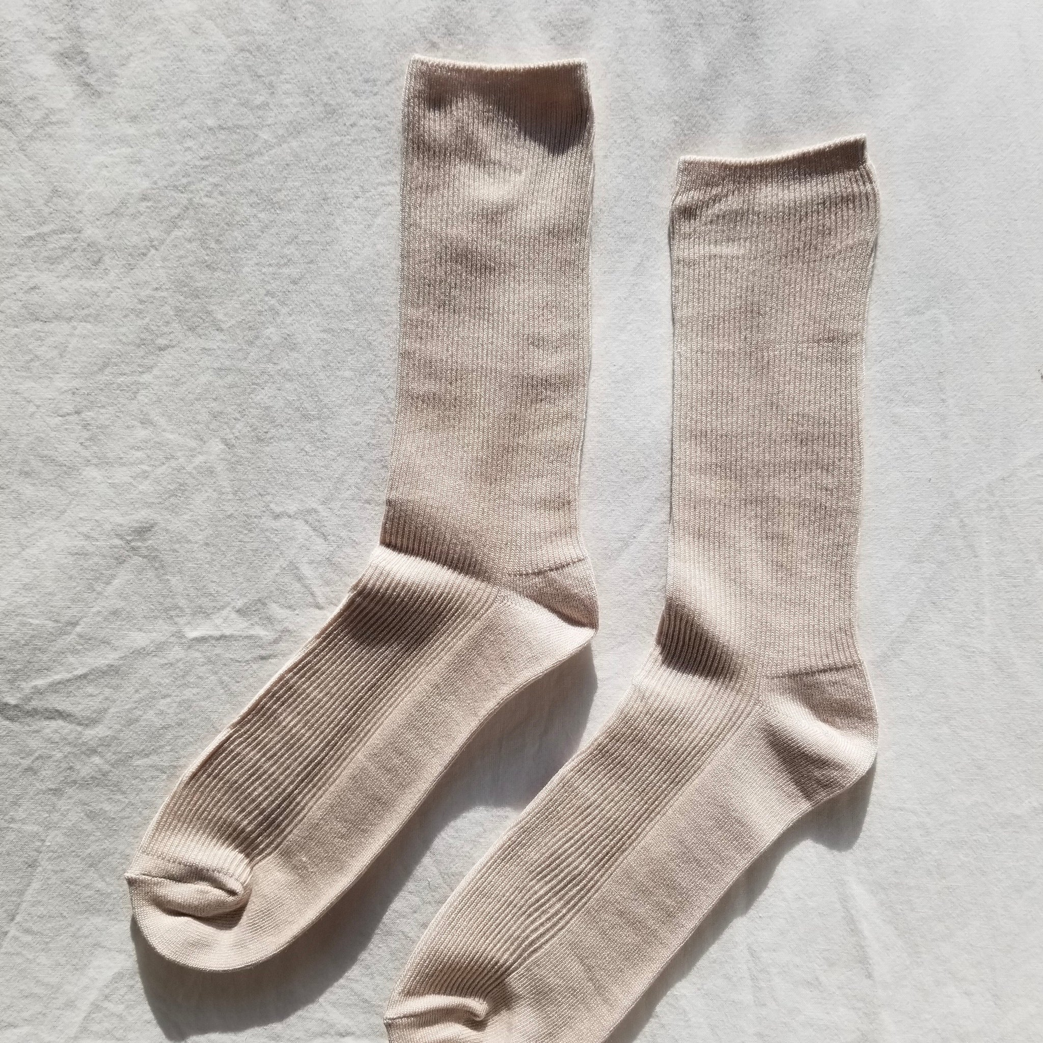 Le Bon Shoppe Trouser Socks in Eggnog