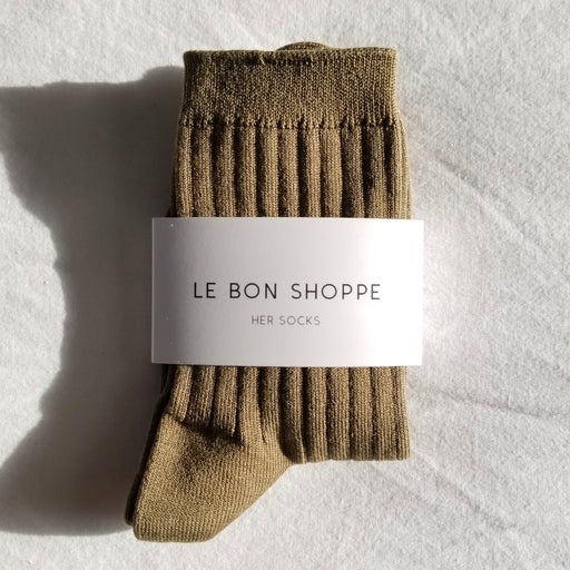 Le Bon Shoppe Her Socks in Pesto