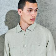 Wax London Whiting Shirt in Sage