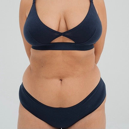 The Nude Label Culotte Brief in Navy