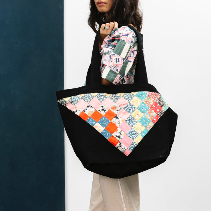 Carleen Patchwork Tote Bag