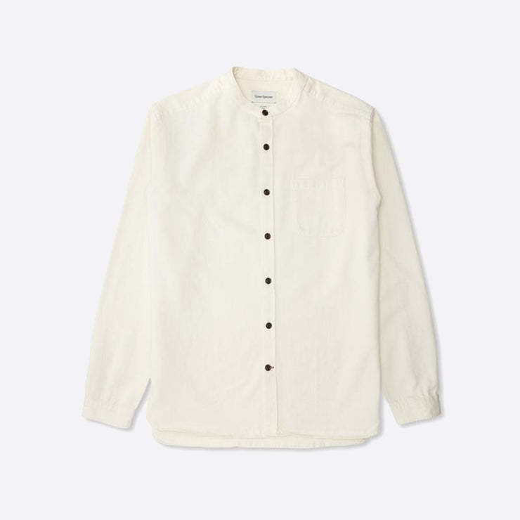 Oliver Spencer Grandad Shirt in Forte Ecru