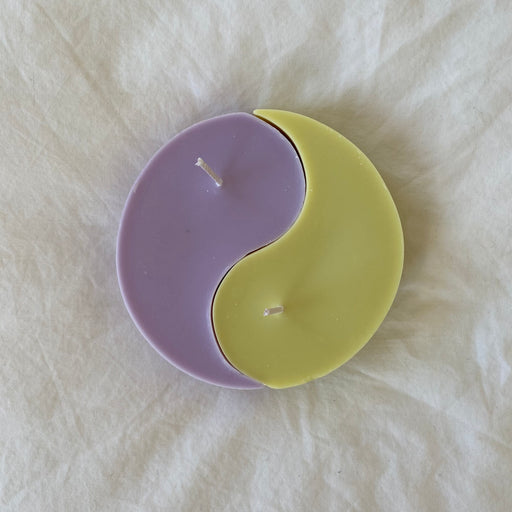 Nata Yin Yang Candles in Lilac/Lime