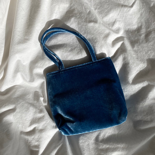 Home of Hai Little Velvet Bag in Blue