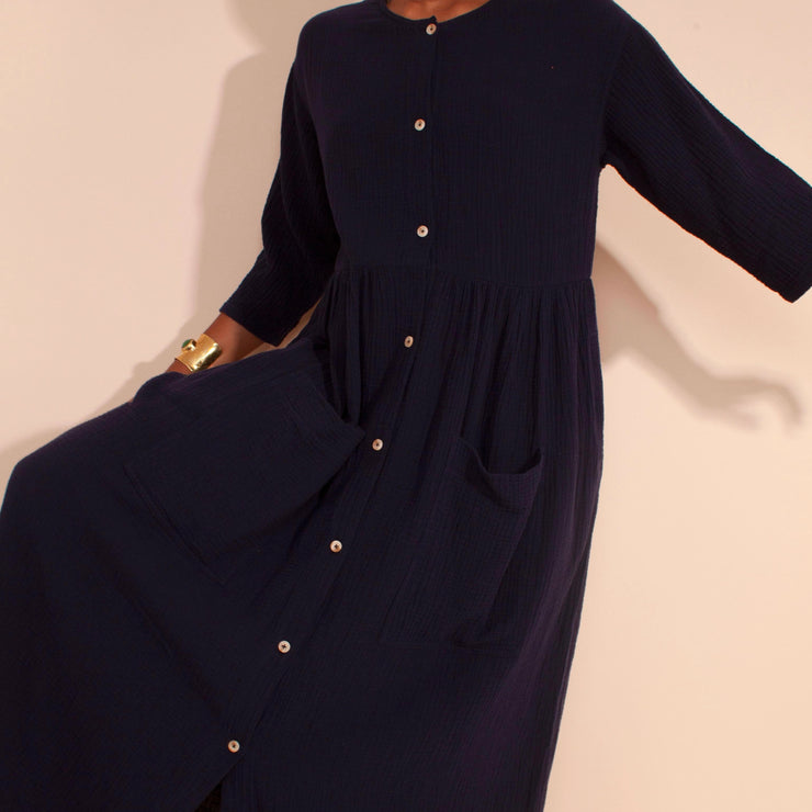 LF Markey Sammy Dress in Navy Voile