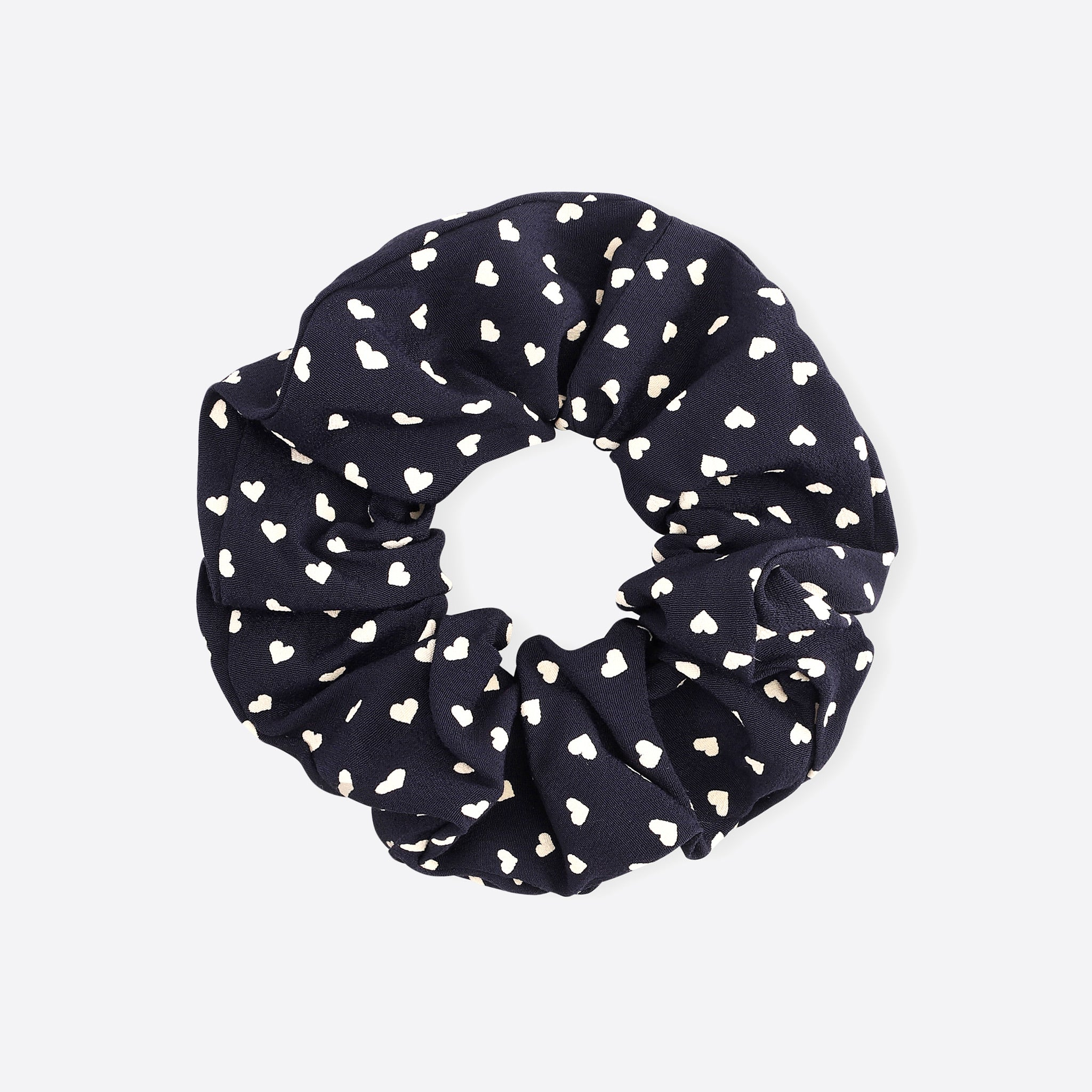 Ganni Printed Crepe Scrunchie in Sky Captain