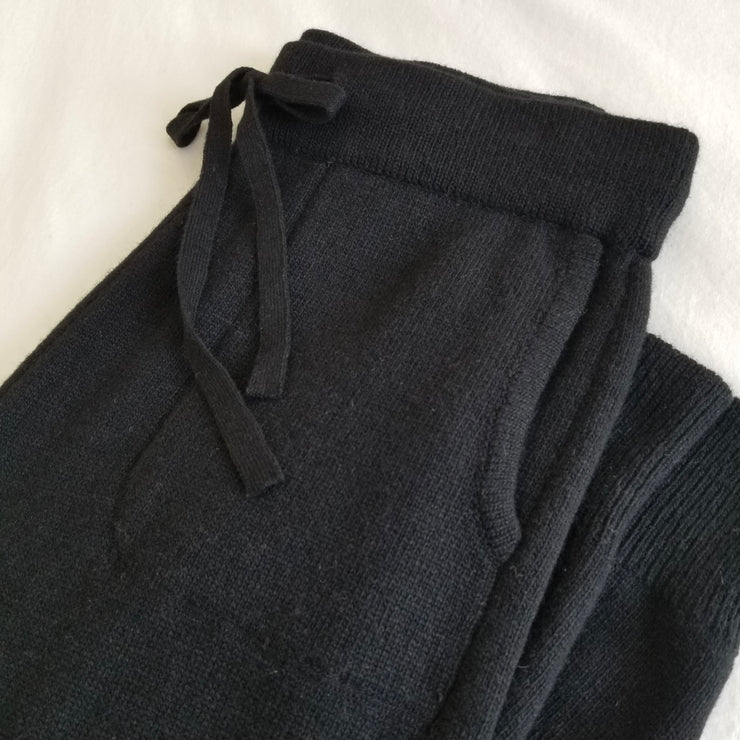 Le Bon Shoppe Nanette Sweater Pants in Ebony