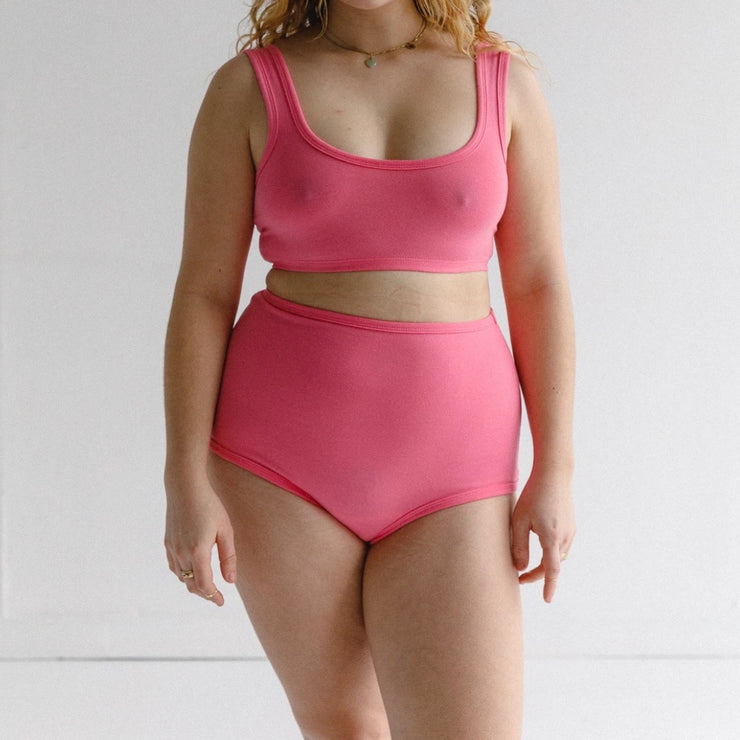 Arq Wide Strap Bra in Bubblegum
