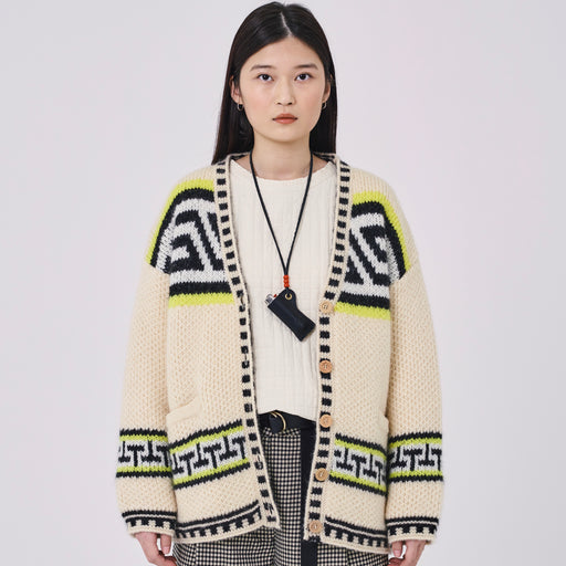 Girls of Dust Native Cardigan in Ivory
