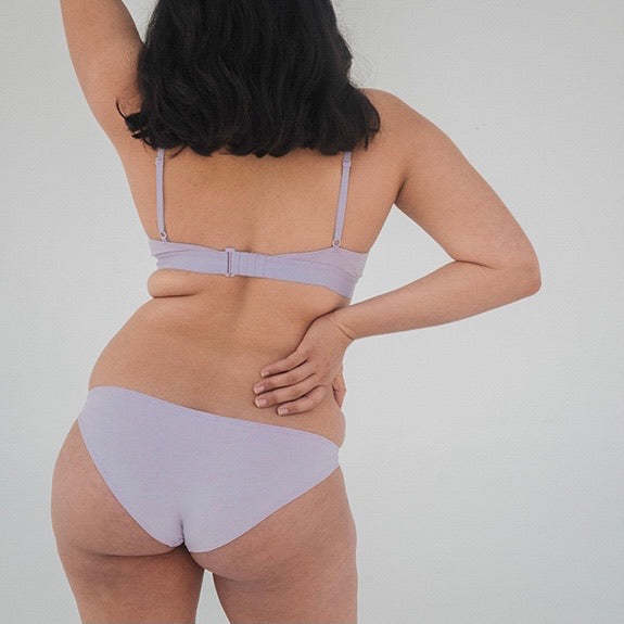 The Nude Label Hipster Brief in Lilac