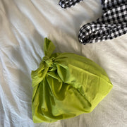 Made by Celeste Grocery Bags in Gingham and Green (2 Pack)