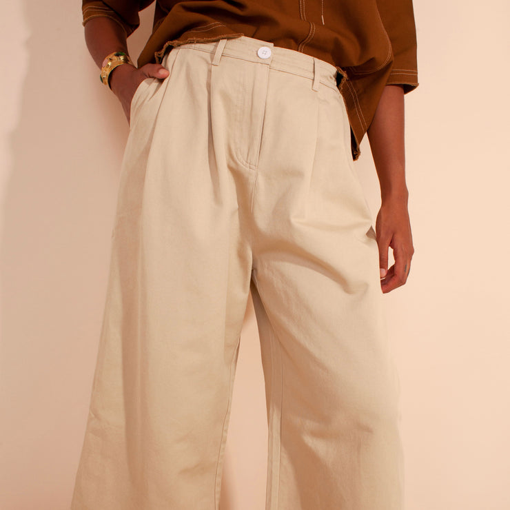 LF Markey Jorgen Trousers in Oatmeal
