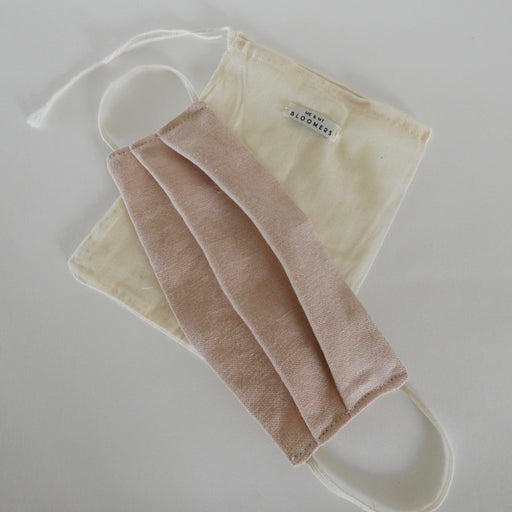 Me & My Bloomers Naturally Dyed Linen Face Mask in Pink
