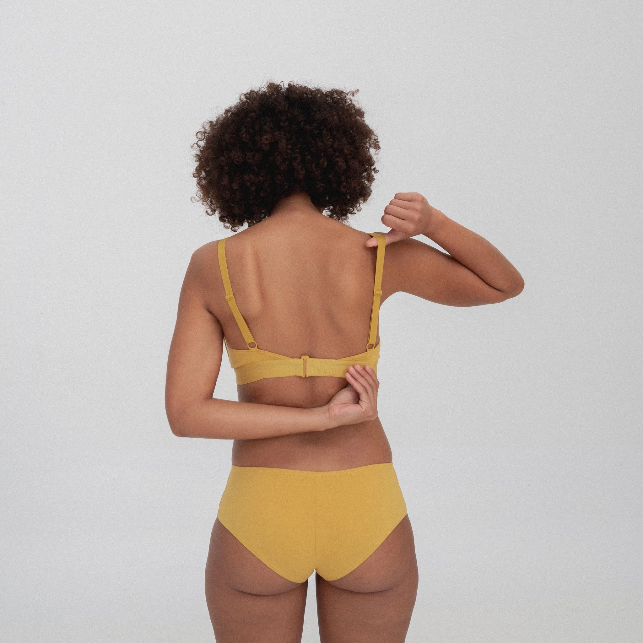 The Nude Label Culotte Brief in Sunflower
