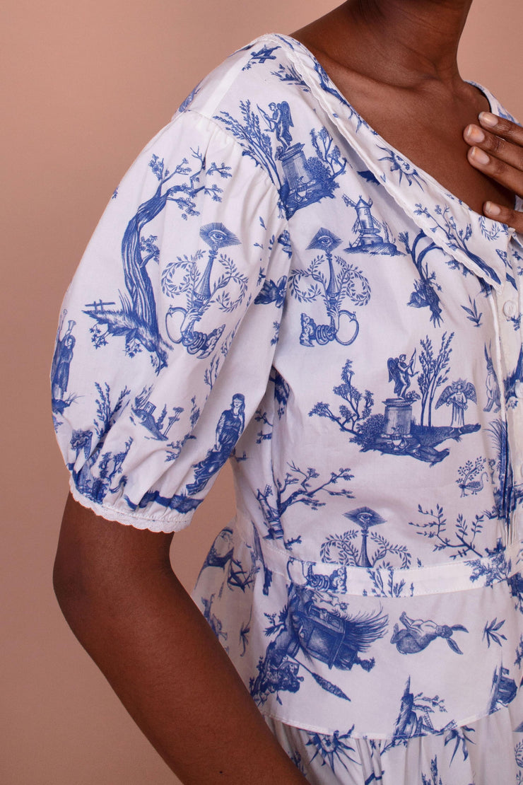 Meadows Mallow Shirt in Toile de Jouy