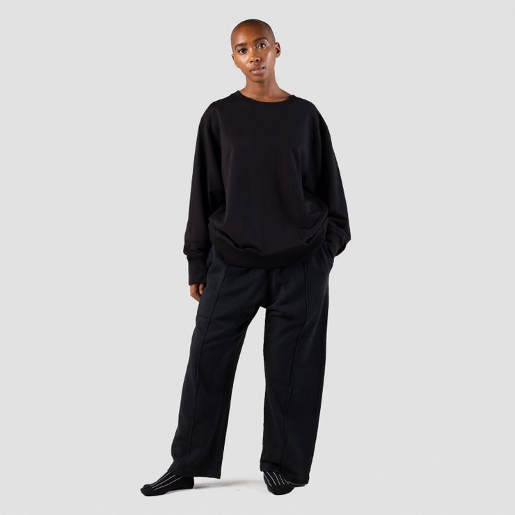 I AND ME Organic Brushed Sweatshirt in Black