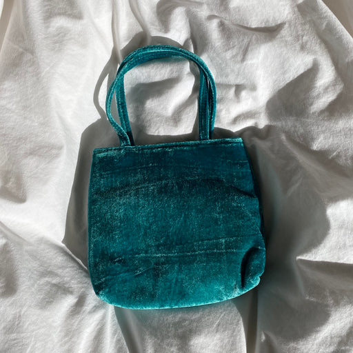Home of Hai Little Velvet Bag in Green