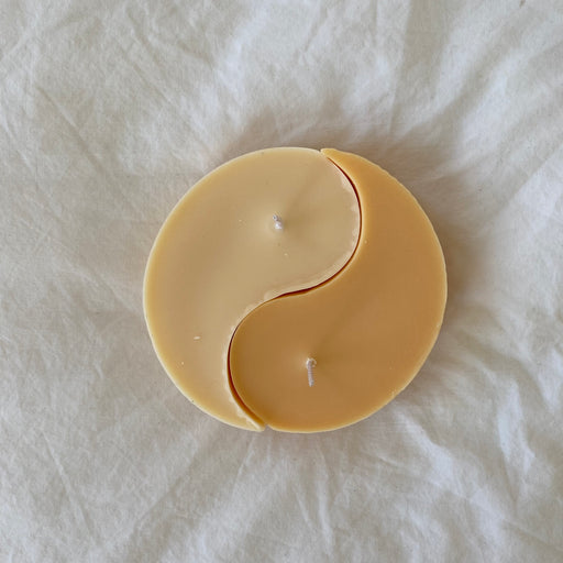 Nata Yin Yang Candles in Peach/Cream