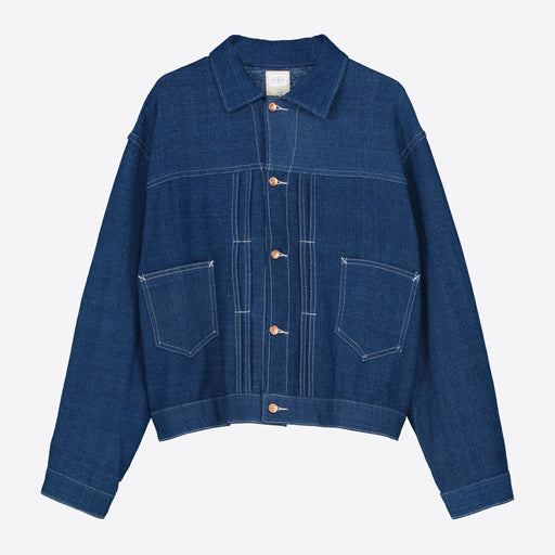 STORY mfg. Sundae Jacket in Fermented Indigo Handloom
