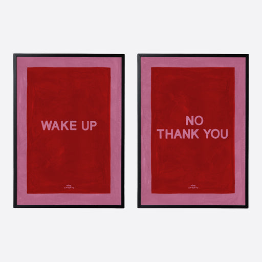 Hotel Magique 'Wake up / No Thank You' A3 Prints