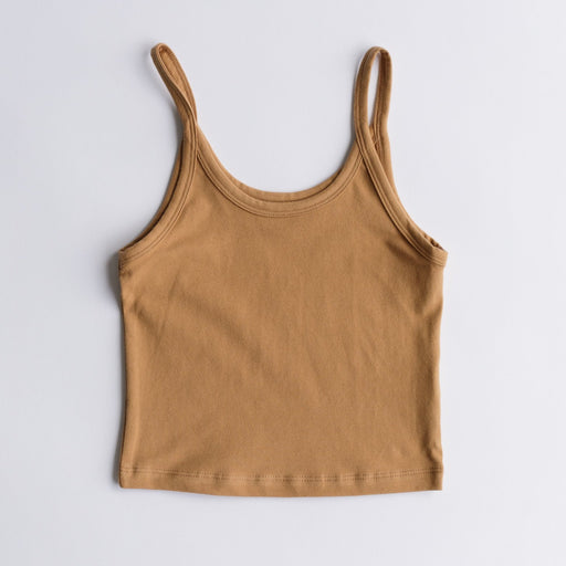 Arq Crop Tank in Camel