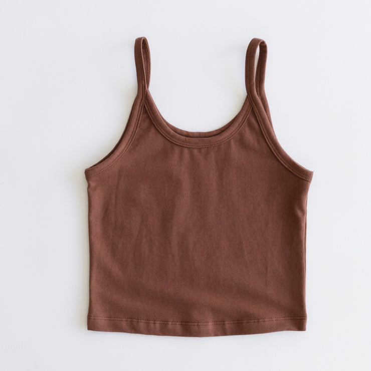 Arq Crop Tank in Spice