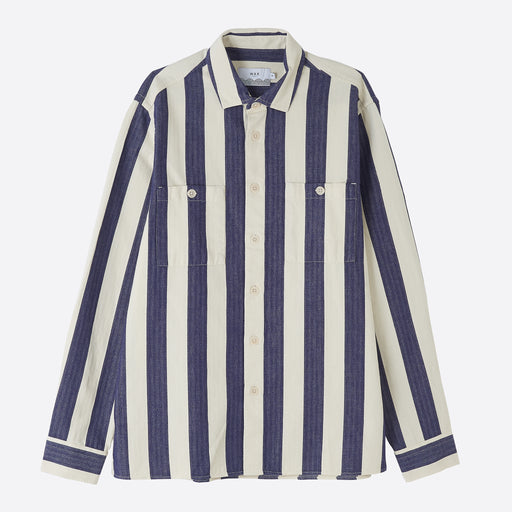 Wax London Whiting Shirt in Beach Blue