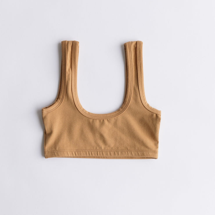 Arq Wide Strap Bra in Camel