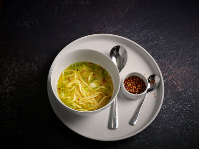 Soy free chicken - Recipe No 3 of 3 - Chilli lemon chicken noodle soup