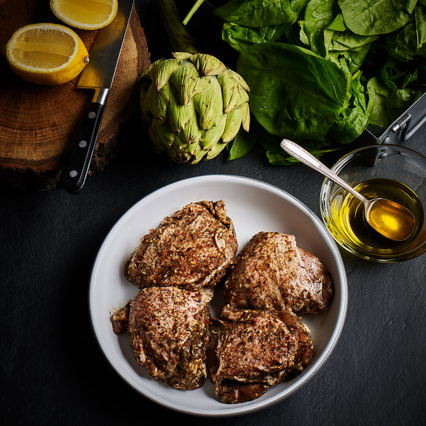 Za'atar seasoned chicken thighs